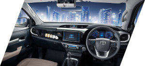 "7"" touchscreen and 4.2"" inch MID and controls on steering wheel gives easy access to all information and entertainment"