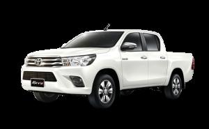 Pearl White Toyota Hilux Revo in Pearl Crystal White Metallic