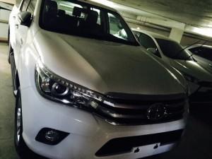 White Toyota Hilux Revo