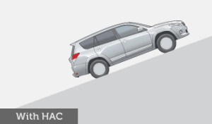 The HAC system helps increase control on steep upgrades and prevents individual wheels from locking.